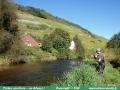 pêche à la mouche sur la Thur, à Thann